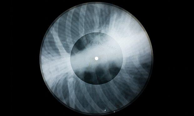 The x-ray pressing of Ella Fitzgerald's Lullaby of Birdland. Photograph: Paul Heartfield